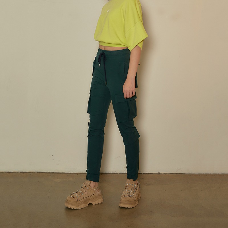 2020 S/S [EX.0S0P002-0] String Cargo Pants - Dark Green