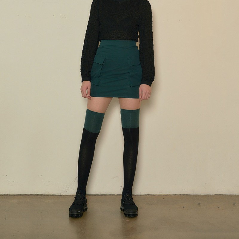 2020 S/S [EX.0S0S003-0] Cargo Mini Skirt - Dark Green